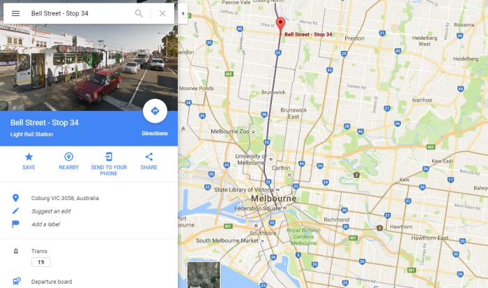 Dari Bell St. Tram Stop ke Melbourne CBD around 25 mins.